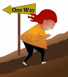 23285108-una-persona-decidida-a-ir-por-el-camino-equivocado