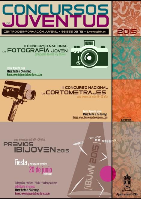 Cartel Concursos Juventud Ibi Alicante 2015